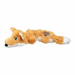 Jouet renard rembourrage corde pour chien KONG Scunch Knots S/M 24 cm