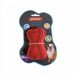 Jouet ultra résistant en caoutchouc avec corde pour chien Titan Zolux - Taille M rouge