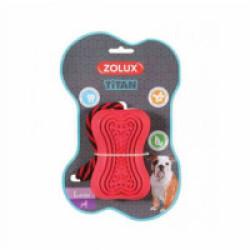 Jouet ultra résistant en caoutchouc avec corde pour chien Titan Zolux - Taille L rouge