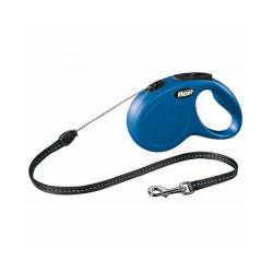 Laisse à enrouleur en corde New Classic Flexi bleu Taille S Longueur 5 m chiens < 12 kg