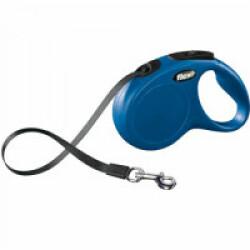 Laisse à enrouleur sangle Flexi Classic pour chien Sangle 5m - S - 15 kg Bleue