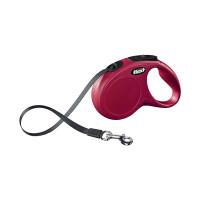 Laisse à enrouleur Flexi New Classic Mini rouge à sangle