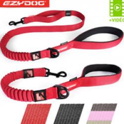 Laisse amortisseur Ezydog Zero Shock pour chien 64 cm Rouge