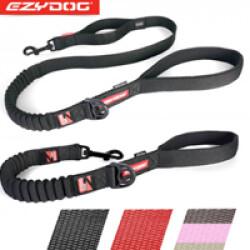 Laisse amortisseur Ezydog Zero Shock pour chien 64 cm Noire