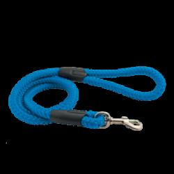 Laisse bleue en corde tressée pour chien Chapuis Sellerie