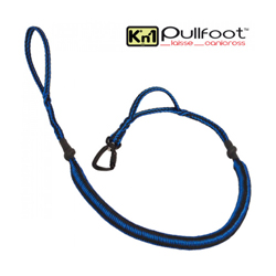 Laisse canicross Kn'1 Pullfoot™ bleue / noire