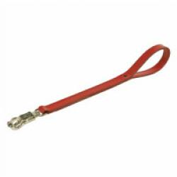 Laisse cuir pour chien d' intervention pro 60 cm rouge