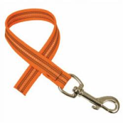 Laisse de conduite réfléchissante souple sans poignée - 0,4 m Coloris Orange