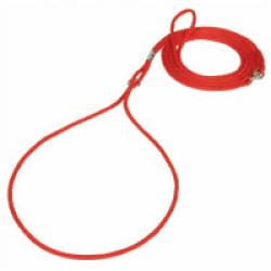 Laisse de présentation pour chien T1 rouge ø 3 mm