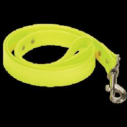 Laisse fluo jaune en pvc pour chien Chapuis Sellerie