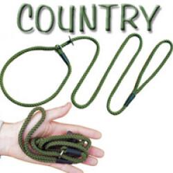 Laisse lasso Country pour chien  Lg 1,50m Ø 8mm Vert kaki