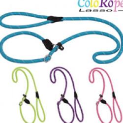 Laisse lasso bleue en corde nylon ColoRope pour chien Ø 10 mm