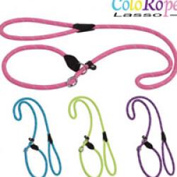 Laisse lasso rose en corde nylon ColoRope pour chien Ø 10 mm