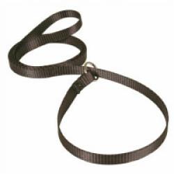 Laisse lasso noire en nylon pour chien