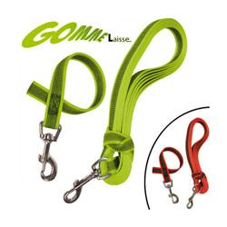 Laisse longe anti-dérapante verte Gommelaisse™ pour chien 0.40 m