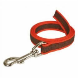 Laisse longe anti-dérapante rouge Gommelaisse™ pour chien 1 m