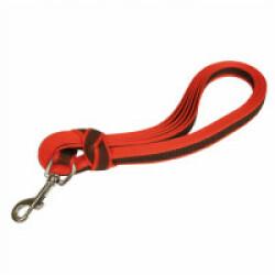 Laisse longe  anti-dérapante rouge Gommelaisse™ pour chien 3 m