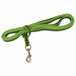Laisse longe anti-dérapante verte Gommelaisse™ pour chien 5 m