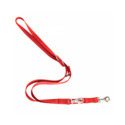 Laisse multi position nylon pour chien T1 Rouge