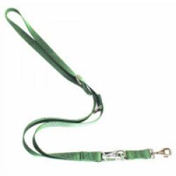 Laisse multi position nylon pour chien T1 Verte