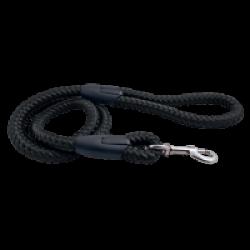 Laisse noire en corde tressée pour chien Chapuis Sellerie