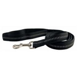 Laisse noire matelassée en nylon pour chien Chapuis Sellerie