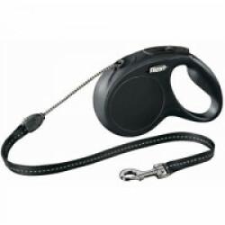 Laisse pour chien à enrouleur corde New Classic Flexi noir Taille S Longueur 8 m chiens < 12 kg