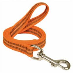 Laisse réfléchissante souple avec poignée - 1 m Coloris Orange