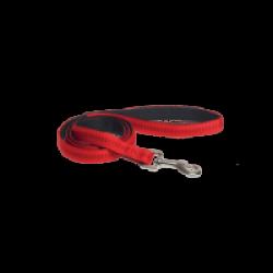 Laisse rouge matelassée en nylon pour chien Chapuis Sellerie