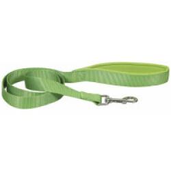Laisse sangle verte en nylon pour chien avec poignée confort Chapuis Sellerie