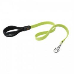 Laisse souple Ergoflex G vert avec poignée ergonomique pour chien