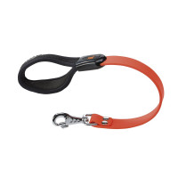 Laisse souple Ergoflex GM orange avec poignée ergonomique pour chien