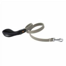 Laisse souple Ergoflex G gris avec poignée ergonomique pour chien Longueur 110 cm / Largueur 18 mm