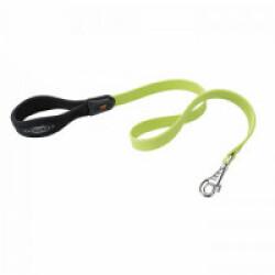 Laisse souple Ergoflex G vert avec poignée ergonomique pour chien Longueur 110 cm / 18 mm