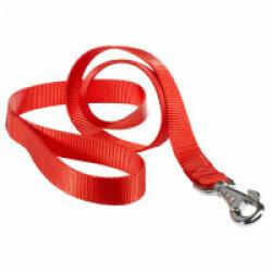 Laisse unie rouge nylon pour chien T1 1,10 m Sangle 10 mm