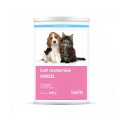 Lait maternisé Mixol pour chiot et chaton - Boîte de 300g (avec 1 tétine et 1 biberon de 60 ml)