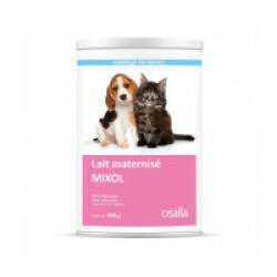 Lait maternisé Mixol pour chiot et chaton - Boîte de 800g (avec 3 tétines et 1 biberon de 60 ml)