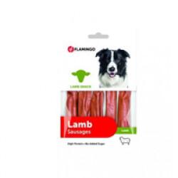 Mini saucisses à l'agneau Lamb Snack Flamingo pour chien
