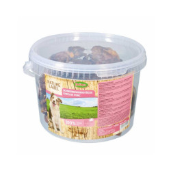 Chips d'oreilles de porc pour chien seau 800 g