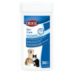 Lingettes humides soin des oreilles pour chien et chat - Boîte de 30 pcs