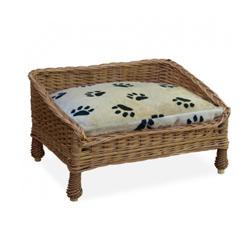 Lit canapé en osier pour chien et chat T60. (62 x 45 x H 34 cm)