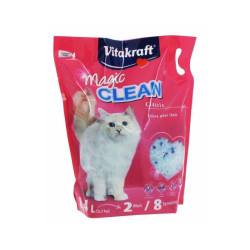 Litière Magic Clean en silice Vitakraft pour chats