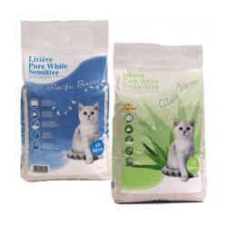 Litière pure white sensitive pour chat sac de 15 litres Pacific-Breeze