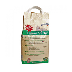 Litière verte à l'argile pour chat Vitakraft 5 Litres