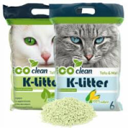 Litière écologique K-Litter au tofu / thé vert 6 L - Lot de 2