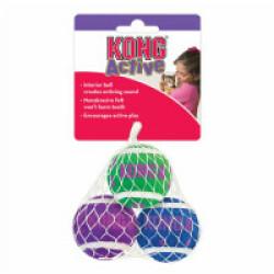 Lot de 3 balles avec clochettes pour chat KONG Active diamètre 4 cm