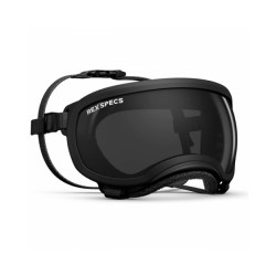 Masque Rex-Specs Small Wide (pour museau écrasé) Noir lentilles claire et fumée