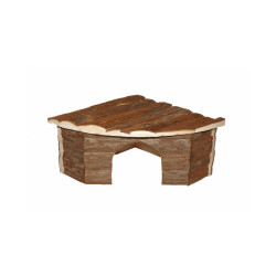 Maison d'angle en bois Rongis pour rongeur