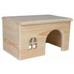 Maison en bois sans clou pour rongeurs - 15 × 12 × 15 cm