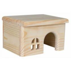 Maison en bois sans clou pour rongeurs - 28 × 16 × 18 cm
